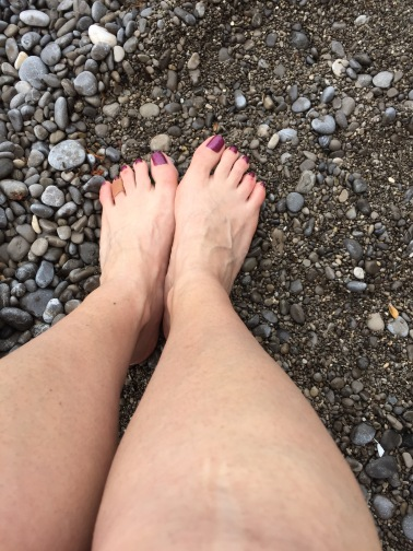 Toes in the sand...sort of